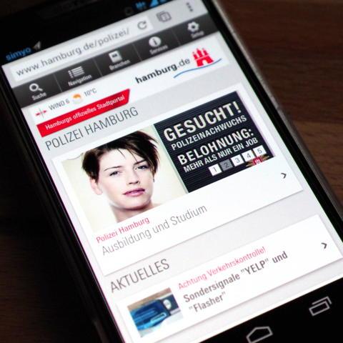 Screenshot von hamburg.de/polizei