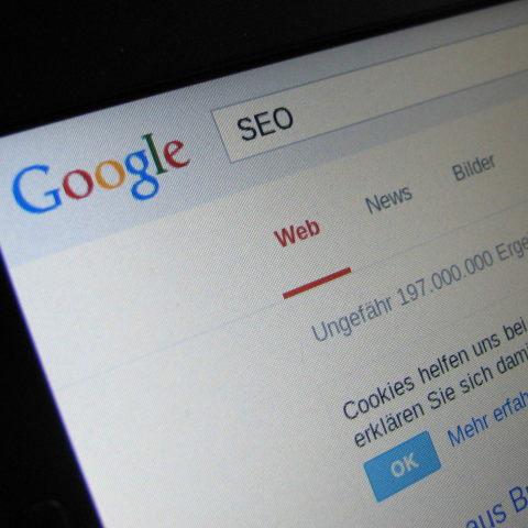 Bildschirmfoto Google Suche nach SEO