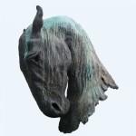 Pferdekopf, Bronzeplasik